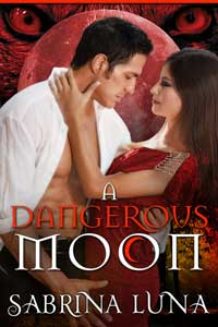 cover design for the book entitled A DANGEROUS MOON