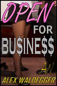 cover design for the book entitled Open For Business