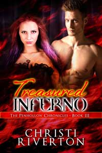 cover design for the book entitled TREASURED INFERNO