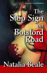 cover design for the book entitled The Stop Sign on Botsford Road