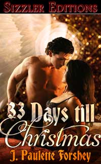 cover design for the book entitled 33 DAYS TILL CHRISTMAS