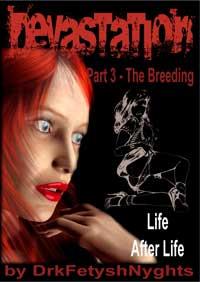 cover design for the book entitled DEVASTATION 3 - THE BREEDING
