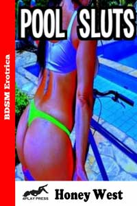 cover design for the book entitled Pool Sluts