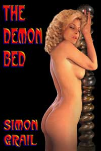 cover design for the book entitled The Demon Bed