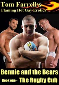 cover design for the book entitled Bennie and the Bears: book one - The Rugby Cub