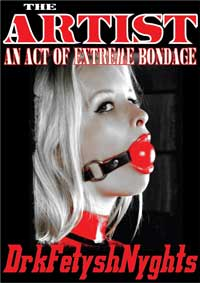 cover design for the book entitled THE ARTIST - An Act Of Extreme Bondage
