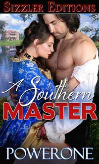 cover design for the book entitled A SOUTHERN MASTER: A Novel of Romantic Bondage