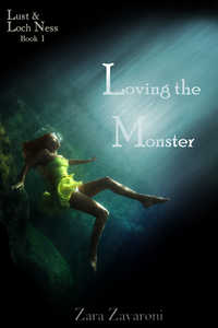 cover design for the book entitled Loving The Monster