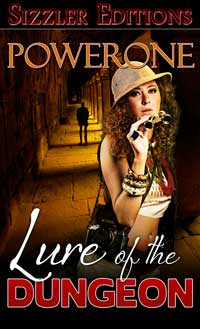 cover design for the book entitled Lure Of The Dungeon