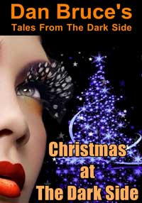 cover design for the book entitled Christmas at The Dark Side