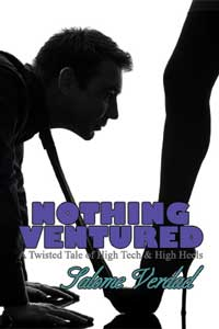 cover design for the book entitled Nothing Ventured: A Twisted Tale of High Tech & High Heels