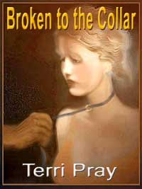 cover design for the book entitled BROKEN TO THE COLLAR