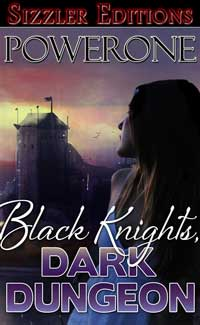 cover design for the book entitled Black Knights, Dark Dungeon