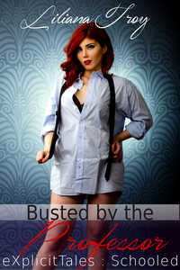 cover design for the book entitled Busted by the Professor