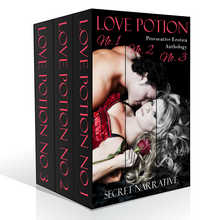 cover design for the book entitled Love Potion 1, 2, & 3