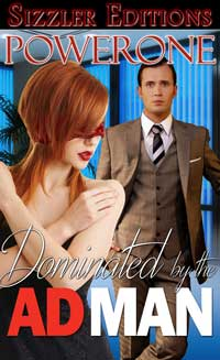 cover design for the book entitled Dominated by the Ad Man