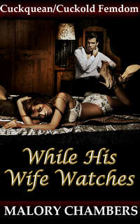 cover design for the book entitled While His Wife Watches