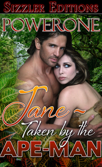 cover design for the book entitled Jane: Taken by the Ape Man