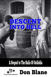 cover design for the book entitled Descent Into Hell