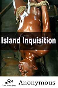 cover design for the book entitled Island Inquisition