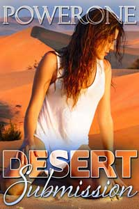 cover design for the book entitled Desert Submission