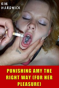 cover design for the book entitled PUNISHING AMY THE RIGHT WAY (FOR HER PLEASURE)